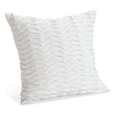 Linen Pintuck White Pillow - White pillows help brighten up a space, and I like some with a bit of texture. These are pin-tucked linen!