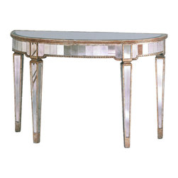 Bassett Mirror Company - Bassett Mirror 8311-400 Borghese Mirrored Console - Mirrored Console belongs to Borghese Collection by Bassett Mirror Company Bassett Mirror is fluent in this art, showing a terrific contemporary furniture that will satisfy on the one hand fans of home coziness, and on the other hand - seekers of non-standard design solutions also. One of the many strengths of the Bassett Mirror is using high quality materials for perfect embodiment of brilliant design ideas. Console (1)