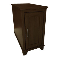 Ameriwood - Ameriwood Chair Side Table in Resort Cherry - Ameriwood - End Tables - 3572207PCOM - This end table in resort cherry finish features a decorative framed door.  It has 1 adjustable shelf behind door with spacious concelaed storage. This stylish nickel handle and solid wood feet will sure add a great addition to your living room.