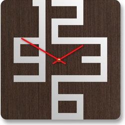 10in Cornell Dark Modern Wall Clock by pilotdesign on Etsy -
