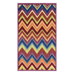 """Loloi Rugs - Loloi Rugs Isabelle Collection - Pink / Multi, 1'-7"""" x 2'-6"""" - Both striking and practical, the boldly colored Isabelle Collection offers a scatter rug power loomed of 100% polypropylene for incredible durability and stain resistance. Ideal for kitchens, entryways, or any room that could use plenty of color. Made in Egypt."""