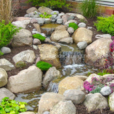 Traditional Landscape by Acorn Landscaping