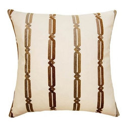 Square Feathers - Sahara Pillow, Ornate Pillow - The Sahara concept is exotic. Bringing patterns you wouldn't usually see on a pillow. Both stylish and bold.