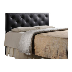Baxton Studio - Baxton Studio Bedford Black Queen Sized Headboard - Bored with your bedroom? Need to perk up that platform bed? Add the look of leather.