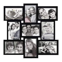None - Adeco Decorative Black Wood Wall Hanging Collage Basket-weave 4x6 Photo Frame wi - This frame's unique,woven look makes it a modern and stylish addition to your living room or kitchen. Showcase your favorite moments from a recent holiday,or a fun array of family pictures. Slim,rectangular frames hold nine 4x6 images.