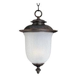 Joshua Marshal - Two Light Chocolate Frost Crackle Glass Hanging Lantern - Two Light Chocolate Frost Crackle Glass Hanging Lantern