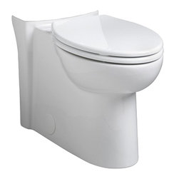 American Standard - American Standard 3075.000.020 Right Height Elongated Bowl,  White - American Standard 3075.000.020 Right Height Elongated Bowl,  White. This elongated bowl assembly comes with 2 bolt hole covers and a 5118.110 model elongated Duroplast toilet seat and cover.