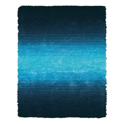 Feizy - Modern Indoor/Outdoor Area Rug: Feizy Rugs Indochine Blue 4 ft. 9 in. x 7 ft. 6 - Shop for Flooring at The Home Depot. The Indochine collection is wonderfully plush and luxurious shag that has been table tufted of art silk. The sheen that these rugs possess makes them a playful addition to more casual contemporary settings. Decorating your space with an Indochine rug instantly creates a setting of warmth and comfort. Color: Blue.