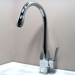 Mdern Chrome Single Handle Kitchen Sink Faucet - Features: