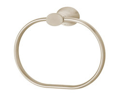 Speakman - Speakman Caspian Collection Towel Ring in Brushed Nickel - Intricately designed. Artfully Crafted. Beautifully detailed. Speakman's Caspian Collection effortlessly blends style and modernity to create perfect pieces for your contemporary dream bathroom. This towel ring is an adventurous update to any bathroom's tired decor. Each towel ring is easy to install, and is available in Polished Chrome and Brushed Nickel to fit any bathroom design