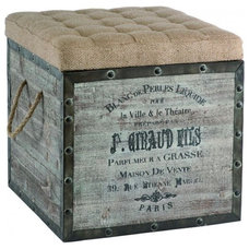 Industrial Footstools And Ottomans by Masins Furniture