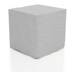 Harmonia Living - Urbana End Table Patio Cover, Fits 19.75W x 19.75D x 19.75H inch - The Urbana End Table Patio Cover (SKU HL-CVR-URBN-ET) is perfect for keeping your end table looking its best throughout the year. Constructed from weatherproof vinyl, this cover is designed to keep sunlight, moisture and debris off of your furniture when it is not in use. This reduces the toll that outdoor exposure takes on your patio furniture, making it easier to clean and maintain. The cover's vents allow moisture to escape, preventing the build-up of mildew. The cover also has string ties that keep it firmly in place. For hassle-free furniture protection, nothing beats these outdoor furniture covers!