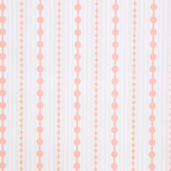 Kimberly Lewis Home - Striped Wallpaper Sheet, Cloudberry - Like raindrops on roses, this wallpaper will soon become one of your favorite things. At once playful and classic, it would look great covering dresser drawers in a bedroom. It's screen-printed by hand using environmentally friendly inks and paper, and each sheet measures 27 by 36 inches.