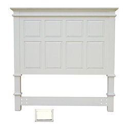 Tradewinds - Cottage Style Panel Headboard, White Queen - A Stupendous piece of furniture it accentuates your decor and provide you with ease of use to limiless extents. It satiates your need of function and style. Made from plantation grown and kiln-dried mahogany and mindi as well as premium hardwood veneers, this is sure to be a lifetime partner of your furniture collection. This dcor is a perfect blend of traditional products and modern sense of styling. An amazing piece of creation it is available in full king and queen size. With the benfit of adjusting height, this is one piece which will content your demands at once.