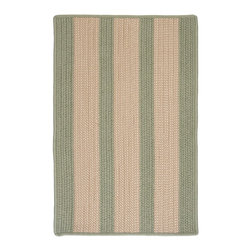 Colonial Mills, Inc. - Indoor/Outdoor Boat House, Olive Rug, Sample Swatch - These outdoor rugs are so stylish and sophisticated, you'll be tempted to use them indoors. (Go ahead, slip one into the bathroom or on the porch — no one won't tell.) Produced in an old New England mill town from stain-resistant polypropylene, they'll stand up to the elements and are reversible and available in a selection of fashionable maritime colors.