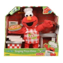 Fisher-Price Sesame Street Singing Pizza Elmo : Plush Toys : Toys & - Elmo's pizza magically comes to life, moving its eyes and mouth when you press Elmo's hand!