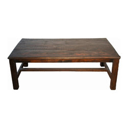 Far Eastern Hardwood Coffee Table - Distressed Rosewood Coffee Table adds a beautiful and authentic look to any living room setting. Imported from India