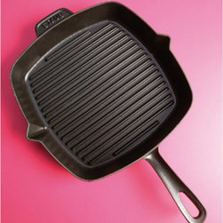 Staub - Staub American Square Grill - Graphite Gray Multicolor - 1202918 - Shop for Griddles & Grill Pans from Hayneedle.com! The perfect piece of meat requires the Staub American Square Grill - Graphite Gray. This cast iron pan features extra-high raised ridges and dual pouring spouts that allow fat to drain off and out of the pan. It's also safe for the oven. It's resistant to rust chipping and cracking and will clean up easily in the dishwasher.About Staub CookwareFrom professional chefs to home cooks people with a passion for cooking rely on Staub cookware. Combining the utility of cast iron with the latest technology available Francis Staub designed his first enameled pot in 1974 in the Alsace region of France. Known for performance style and durability Staub has become the benchmark for enameled cast-iron cookware. Ideal for braising searing roasting and caramelizing food Staub's signature pots - called cocottes - feature an enameled interior with a matte black finish. Resistant to rust chipping and cracking cocottes are available in round and oval shapes in a variety of sizes and colors. Just right for slow-cooking food Staub cocottes are designed to provide even heat distribution excellent heat retention and continuous self-basting. The inside of each heavy snug-fitting lid features a series of bumps (or self-basting spikes) to allow continuous natural basting by distributing moisture throughout for extra flavor and tenderness. In addition to its signature cookware which is perfect for serving at the table Staub also offers pans for frying sauteing grilling and roasting as well as a variety of teapots accessories and gourmet specialty items.