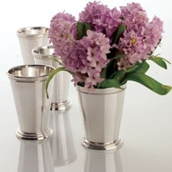 Mint Julep Cups - SIlver mint julep cups are a great alternative to vases for fresh spring flowers. These also work great as pencil holders.