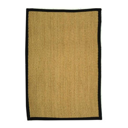 Safavieh - Natural Fiber Hand Woven Rectangular Rug (4 ft. x 2 ft. 6 in.) - Size: 4 ft. x 2 ft. 6 in. Traditional style. Power loomed. Hand-woven. Soft and durable. Made from sisal and natural sea grass. Natural and black color. This densely woven rug will add a warm accent and feel to any home. The 100-percent cotton canvas backing adds durability. Care Instructions: Vacuum regularly. Brushless attachment is recommended. Avoid direct and continuous exposure to sunlight. Do not pull loose ends; clip them with scissors to remove. Remove spills immediately; blot with clean cloth by pressing firmly around the spill to absorb as much as possible. For hard-to-remove stains professional rug cleaning is recommended.