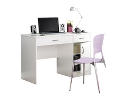 South Shore - South Shore Axess Small Computer Desk in Pure White - South Shore - Computer Desks - 7250070 - Need to tidy up your home office? This Axess collection small desk is perfect for all your storage needs! Its design includes all the space you need for a well-organized workspace thanks to its closed storage spaces. In addition, the work surface is great for laying out homework or setting down a laptop.