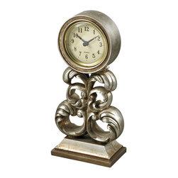 Sterling Industries - Sterling Industries 93-19318 Desk Clock In Antique Silver - Clock (1)