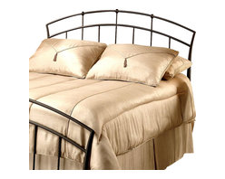Hillsdale Furniture - Vancouver Collection Metal Headboard in Antiq - Choose Size: TwinTwisted metals spindles with the look of wrought iron give this metal headboard a rustic appeal that will easily enhance any guest room or master bedroom. The headboard has an arched top and is finished in antique brown. It is available in your choice of sizes. For residential use. Includes headboard and frame rails. Tapered side posts. Doughnut style castings. Contemporary designDimensions:. Twin: 2.75 in. W x 1.5 in. D x 49 in. H. Twin bed frame: 76.5 in. L x 54 in. W. Full/queen: 63.75 in. W x 1.5 in. D x 49 in. H. Full/queen bed frame: 83.5 in. L x 78 in. W. King: 81.75 in. W x 1.5 in. D x 49 in. H. King bed frame: 83.5 in. L x 78 in. WPopular contemporary design themes makes this bed a best seller. Tapered side posts and strategically placed doughnut style castings are highlighted by twisted spindles.