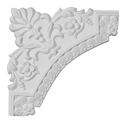 "Ekena Millwork - 11 3/4""W x 11 3/4""H Lanarkshire Panel Moulding Corner - Our beautiful panel moulding and corners add a decorative, historic, feel to walls, ceilings, and furniture pieces.  They are made from a high density urethane which gives each piece the unique details that mimic that of traditional plaster and wood designs, but at a fraction of the weight.  This means a simple and easy installation for you.  The best part is you can make your own shapes and sizes by simply cutting the moulding piece down to size, and then butting them up to the decorative corners.  These are also commonly used for an inexpensive wainscot look."
