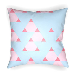 Surya - Light Blue Scandanavian Throw Pillow - Any bed set gets a fantastic splash of color with this pillow. Its unique pattern is both eye-catching and fashion forward. �� 100% polyester Spot clean Made in the USA