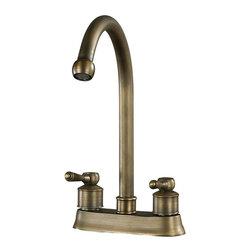 Sterling Industries - 2 Handle Centre Set Antique Brass Faucet - 2 Handle Centre Set Antique Brass Faucet