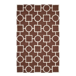 Safavieh - Howard Hand Tufted Rug, Dark Brown / Ivory 6' X 9' - Construction Method: Hand Tufted. Country of Origin: India. Care Instructions: Vacuum Regularly To Prevent Dust And Crumbs From Settling Into The Roots Of The Fibers. Avoid Direct And Continuous Exposure To Sunlight. Use Rug Protectors Under The Legs Of Heavy Furniture To Avoid Flattening Piles. Do Not Pull Loose Ends; Clip Them With Scissors To Remove. Turn Carpet Occasionally To Equalize Wear. Remove Spills Immediately. Bring classic style to your bedroom, living room, or home office with a richly-dimensional Safavieh Cambridge Rug. Artfully hand-tufted, these plush wool area rugs are crafted with plush and loop textures to highlight timeless motifs updated for today's homes in fashion colors.