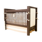 Ricki Crib with Upholstered Panels