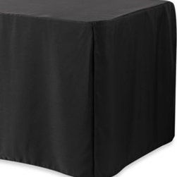 "Levinsohn Textile Company, Inc. - 4-Foot Table Cover in White - Crafted from 100% polyester, this table cover is specially designed to enhance and fit all brands of folding tables. Generous ""to-the-floor"" drop length hides table legs from view."