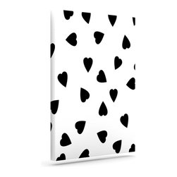 """Kess InHouse - Suzanne Carter """"Hearts Black"""" White Wrapped Art Canvas (12"""" x 10"""") - Bring your outdoor patio to life with this artistic outdoor canvas wrap featuring gorgeous artwork by KESS InHouse. These canvases are not only easy to hang and remove but also are the perfect addition to your patio collection. These canvases are stretched around a wooden frame and are built to withstand the elements and still look artistically fabulous. Decorating your patio and walls with these prints will add the splash of art and color that is needed to bring your patio collection together! With so many size options and artwork to choose from, there is no way to go wrong with these KESS Canvas Wraps!"""