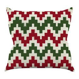"Kess InHouse - KESS Original ""Christmas Gram"" Chevron Throw Pillow (16"" x 16"") - Rest among the art you love. Transform your hang out room into a hip gallery, that's also comfortable. With this pillow you can create an environment that reflects your unique style. It's amazing what a throw pillow can do to complete a room. (Kess InHouse is not responsible for pillow fighting that may occur as the result of creative stimulation)."