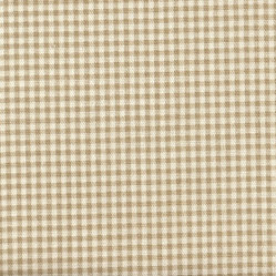 Bradford Valance Gingham & Ticking Stripe Linen Beige