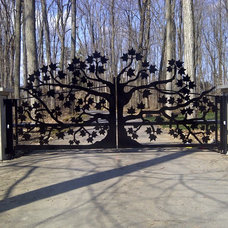 Traditional Home Fencing And Gates by P.B. Welding Service