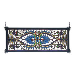 Meyda - 29 Inch W X 11 Inch H Antoinette Transom Window Windows - Color Theme: Baw Pbna Zai Burgundy Pbw