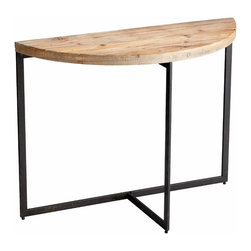 Basic Natural Wood/Metal Console Table - *Taro Console Table