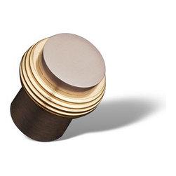 RK International - Pewter & Brass RKI Solid Swirl Rod Knob (RKICK4214PWB) - Solid Swirl Rod Knob