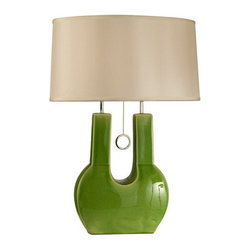 Nova Lighting - Nova Lighting 1010190 Emperor 1 Light Table Lamp with Green Finish - Features: