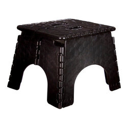 E-Z Foldz Folding Step Stool - Black -