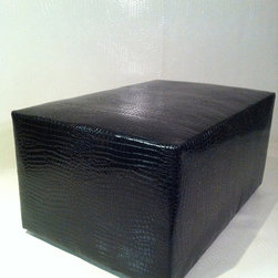 Faux Croc Ottomans/ Cocktail Tables - Faux croc 2ft by 3ft  ottomans which are great in both commercial and residential spaces.
