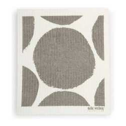 Swedish Dishcloth Bubble Design - Authentic Swedish Dishcloth in beautiful modern design. Add some Scandinavian charm to your kitchen sink with these delightful contemporary designs in functional, reusable towels for your home.