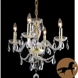Christopher Knight Home - Christopher Knight Home Crystal 57162 4-light Chandelier - Brighten your home decor with this elegant four-light, crystal-accented chandelier. This chandelier features a rich gold finish for a lustrous, traditional look.