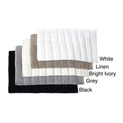 Sherry Kline - Sherry Kline Cotton Stripe 21 x 32 Bath Rug - Top off your bathroom decor with this luxurious bath rug. This bathroom accessory has a very soft cotton feel and measures 21 inches x 32 inches.