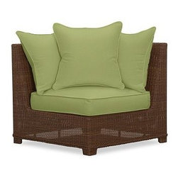 Palmetto All-Weather Wicker Corner Chair Cushion Slipcover, Jade Green - Crafted from Sunbrella(R) fabric or water-repellent, ring-spun polyester, our cushion slipcovers are the perfect match for the strength and durability of our outdoor collections. Click to read an article on {{link path='pages/popups/palmetto-care_popup.html' class='popup' width='640' height='700'}}recommended care{{/link}}. Water-repellent, ring-spun polyester, or Sunbrella(R) fabric slipcovers for Palmetto cushions. Sunbrella(R) fabric is specially designed to resist fading, mildew, chlorine and stains. Machine wash slipcover. Sunbrella(R) cushions and slipcovers are special order items which receive delivery in 3-4 weeks. Please click on the shipping tab for shipping and return information. Catalog / Internet only. Imported. View our {{link path='pages/popups/fb-outdoor.html' class='popup' width='480' height='300'}}Furniture Brochure{{/link}}.