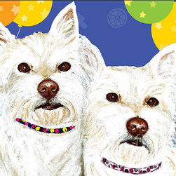 Westies and Balloons - Ania M Milo - Painting - Painting - Acrylics On Canvas
