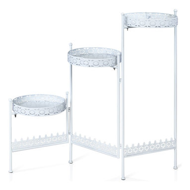 Furinno - Furinno FNBJ-22099 Balmain 3-Tier Plant Stand - Furinno Balmain Plant Stand is (1) Unique Structure: designed with simple yet stylish appearance. We focus on products that fit in your space and fit on your budget. (2) Easy Assembly: with reference to the assembly instruction, this unit can be assembled in as short as 30 minutes. Designed to meet the demand of low cost but durable and efficient furniture.  A simple attitude towards lifestyle is reflected directly on the design of Furinno Furniture, creating a trend of simply nature. Products are produced 100-percent in China. Care instructions: wipe clean with clean damp cloth. Avoid using harsh chemicals. Pictures are for illustration purpose. All decor items are not included in this offer.