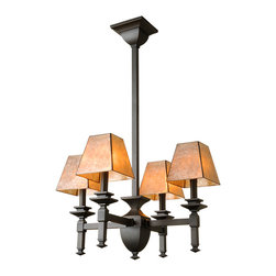 Interior Craftsman Lighting - Our newest line of Craftsman Chandeliers will fit perfectly in your craftsman or bungalow style home. The beautiful Mica shades complement the style perfectly.